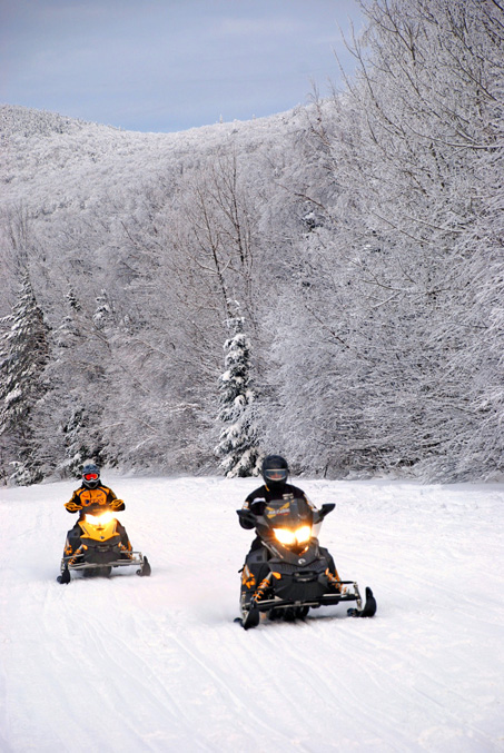 Snowmobilers in NH