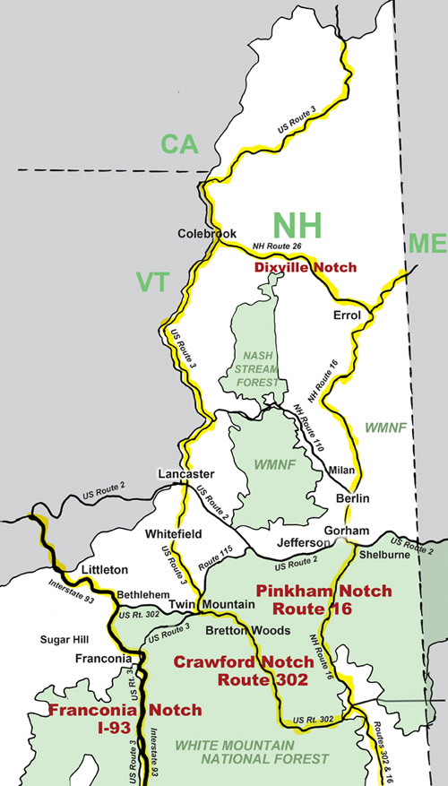 Road Map Northern NH